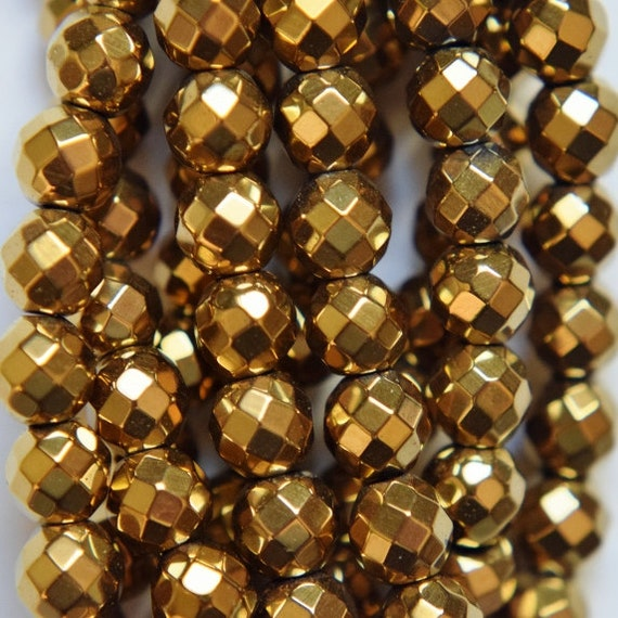 Faceted Hematit... Gold Hematite Beads