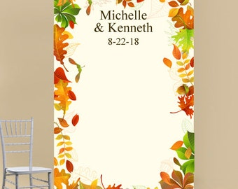 Fall Theme Personalized Photo Booth Backdrop  (ENWF-JM911068)