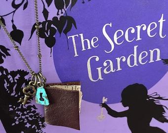 The Secret Garden Book Necklace