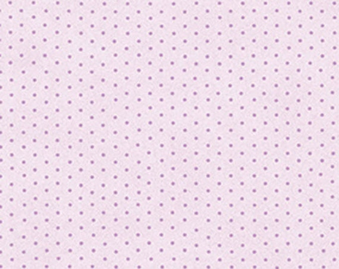 One Yard Zoey - Dimity Dot in Violet Purple - Floral Cotton Quilt Fabric - Eleanor Burns for Benartex Fabrics - 710-66 (W3495) Christine
