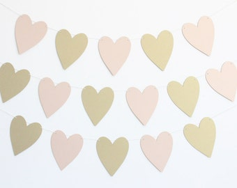 Wedding Heart Party Banner - Customizable Colors