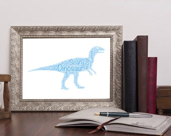 Personalised Dinosaur / Tyrannosaurus Rex / T-Rex / Jurassic  Word Art Print Wordart UK