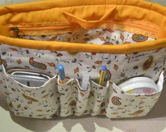 "Purse organizer insert/Bag organizer/ Insert handbag organizer/Purse Organizer 10""Width x3.5""depthx7.5 halt"