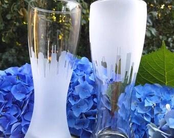 San Francisco Skyline Pilsner Glass (Set of 2)