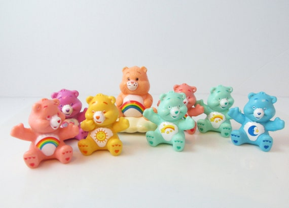 Care Bears Cake Toppers Supply Figures & Vintage Cheer Bear