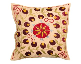 Cushion Cover - VINTAGE SUZANI DESIGN 10 - 40 x 40