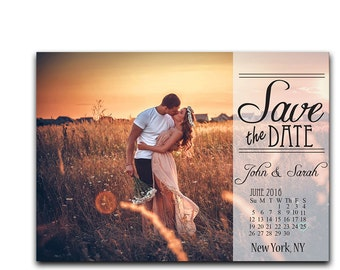 Save The Date Card - Photo Save the Date - Save the Date Calendar - Wedding Save the Date - Modern Save the Date - Custom Save the Date