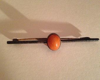Victorian Carnelian Bar Pin