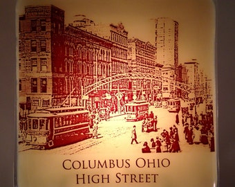 Historic Columbus Ohio High Street Night Light