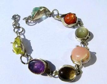Gemstone Bangle, Gemstone Jewelry, Gemstone Bracelet, Your Choice of Gem Stone Bracelet, Gem Bracelet, Gem Jewelry, Gem Stone Jewelry