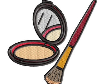 Make up compact embroidery 4in hoop
