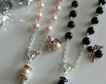 Small Rosaries, Rear View Mirror Rosary, Baptism Gift, Handmade Rosaries,Pocket Rosary,In the Memory of,Car Rosaries,Single Decade Rosary