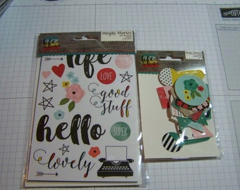 Simple Stories LIFE IN COLOR Decorative Clips and Stickers Bundle