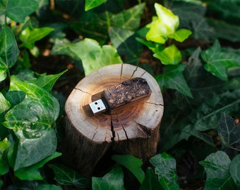 Solid Oak USB Flash Drive