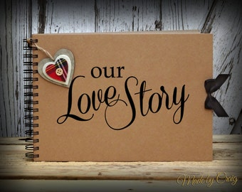 Our Love Story Scrapbook, Photo Book, Memories, Keepsake, Wedding/Engagement Gift Idea, Couples Gift, Valentines/Christmas Gift Idea