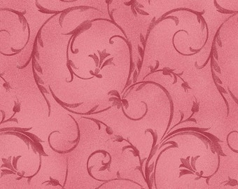 Pink Poppies Print by Maywood Studio's, 100% Premium Cotton Fabric by the Yard