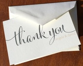 Personalized Stationery Wedding Thank You By