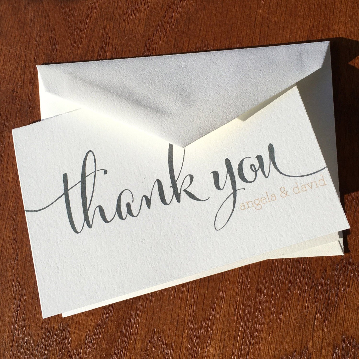 Thank You Wedding: Wedding Thank You Notes Large Script Handmade Wedding