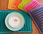 crochet placemat pattern - Waffle Stitch Crochet Placemat Pattern pdf file