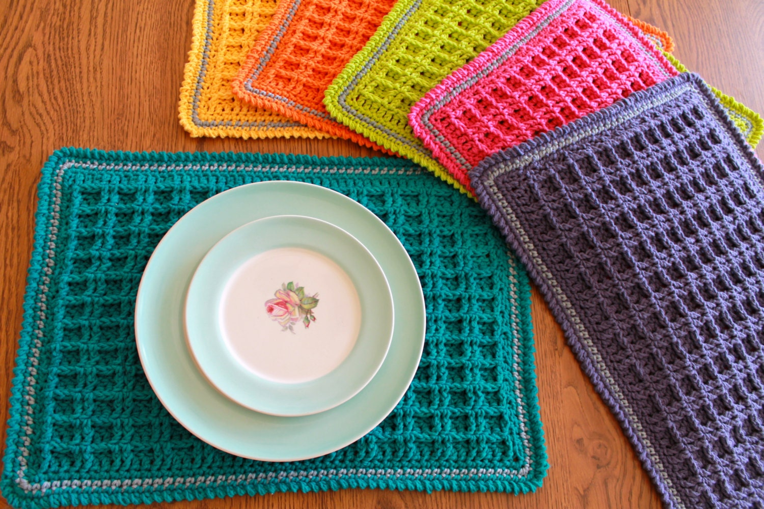 Crochet placemat pattern waffle stitch crochet placemat zoom bankloansurffo Image collections
