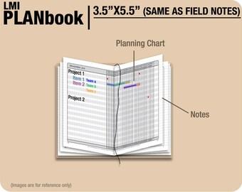 FULL  [FIELD NOTES PlanBook] January to December 2018 - Filofax Inserts Refills Printable Binder Planner Midori.