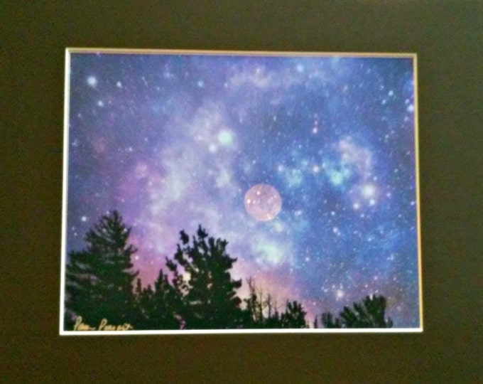 BLUE WALL DECOR by Pam Ponsart of Pam's Fab Photos featuring Celestial Night Sky; perfect for Home, Office or Cubicle