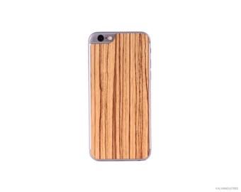 Real Zebrawood iPhone 6 / 6 Plus Wood Skin