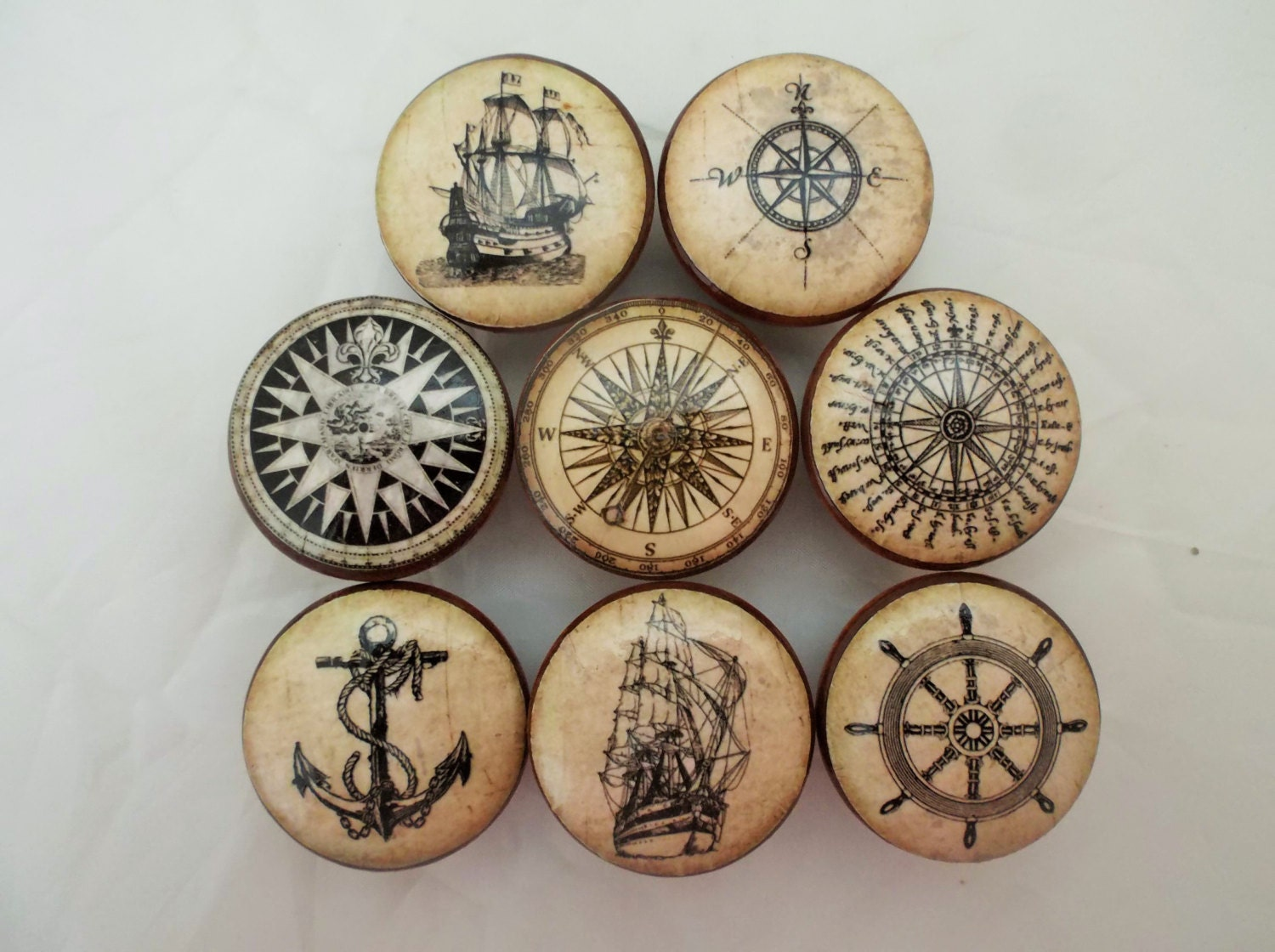 Sell Kitchen Cabinets Set Of 8 Old World Nautical Cabinet Knobs From