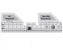 Creative Grids Trapezoid Strip Ruler 15 1/4in x 5in By Rachel Cross - Acrylic # CGRSRTRAP