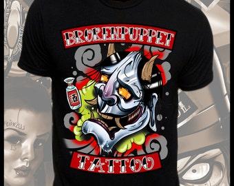 Drunk Hannya Tattoo Art T-Shirt