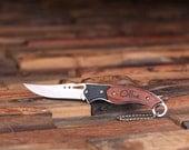 Set of 6 Personalized Engraved Monogrammed Pocket Knife Groomsmen, Best Man or Usher Gifts (024243)
