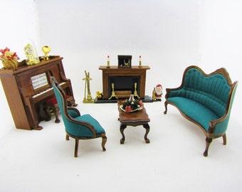 Antique tynietoy lynnfield dollhouse furniture dining room - Dollhouse dining room furniture ...