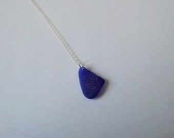 Lovely blue, irish sea glass pendant