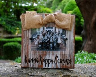Kappa Kappa Gamma Whitewashed Rustic Frame
