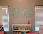Package DEAL 2 Wooden Monograms, Wooden Wall Letters, Nursery Decor, Wedding, Game Room Decor, Large 3 Letter Monogram