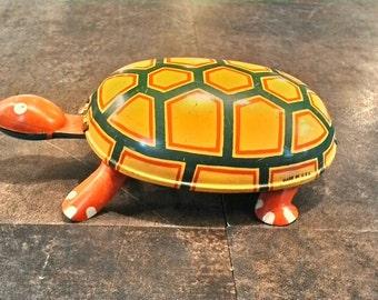 Vintage tin toy windup Turtle