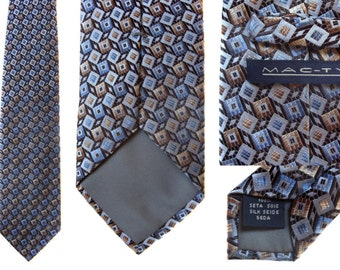 Vintage neck tie MAC-TY 100% Silk Necktie Mens Handmade