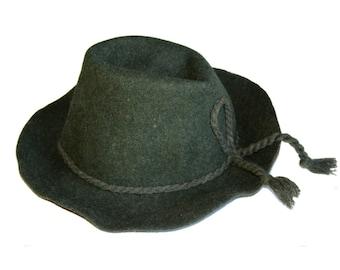 Vintage wool fedora green hat