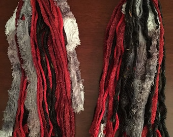 Red & black yarn hair fall set
