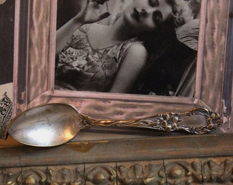 Vintage Silverplated Spoon - Small with Flowers and Scrolls