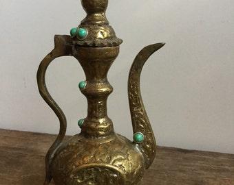 Brass Turkish Style Ornate Miniature Tea Pot