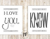 I Love You, I Know - Princess Leia and Han Solo - Star Wars Inspired Art Prints - 11x14 White - SALE