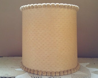 Vintage Pom Pom and Swiss Dot Lace Lamp Shade