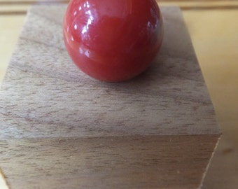 Antique Marble with Butter nut Stand