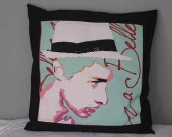 Retro 'Prestigious Textiles' Andy Warhol style hand-made cushion