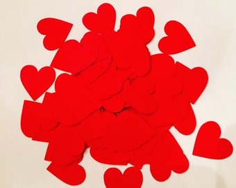 Red Heart Table Confetti / Heart Table Scatter