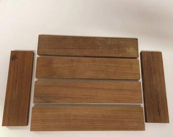 Unfinished teak wood slat kit