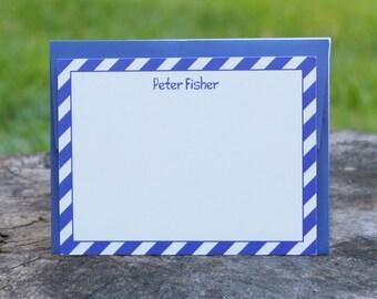Blue Stripe Note Cards