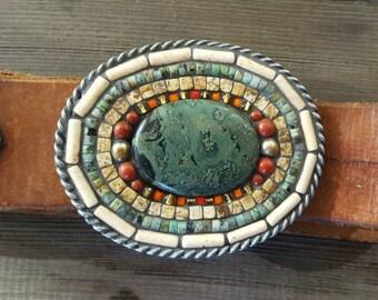 Mosaic Belt Buckle Oval