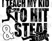Hit & Steal Baseball SVG